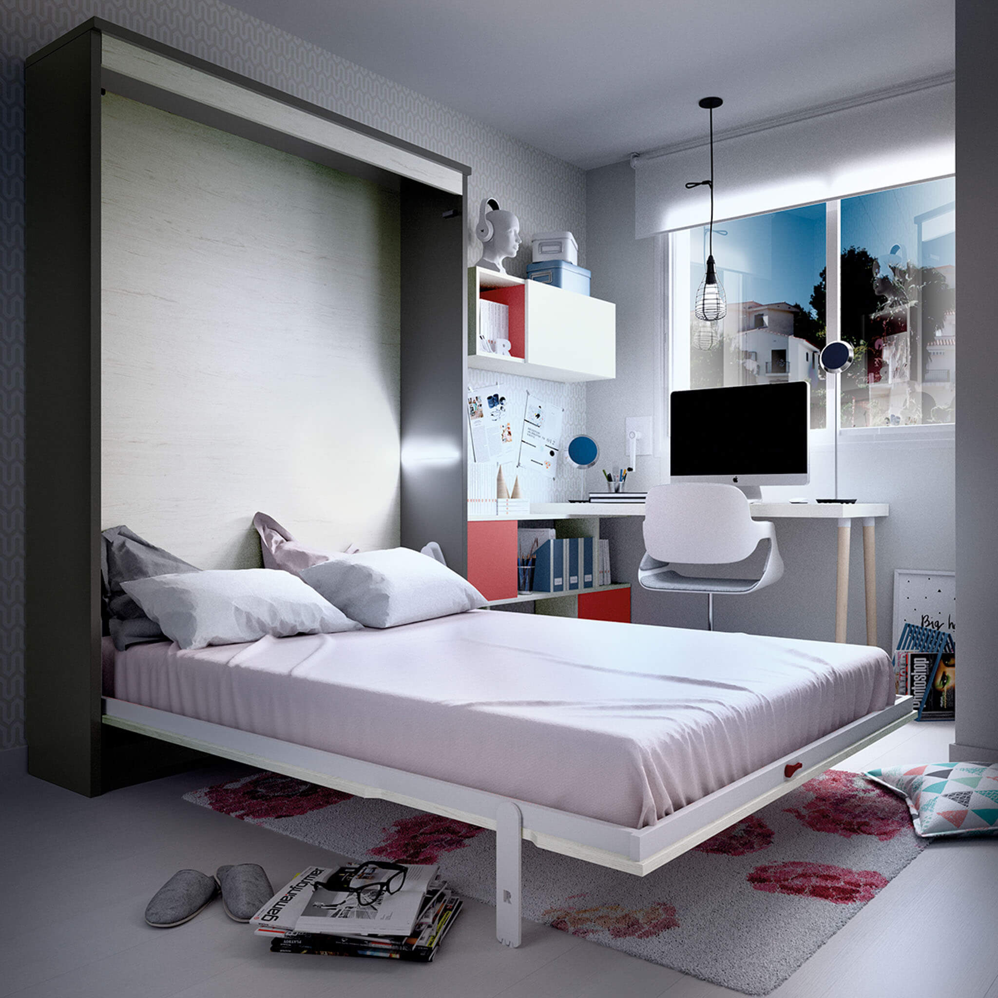 Double wall bed Vertical