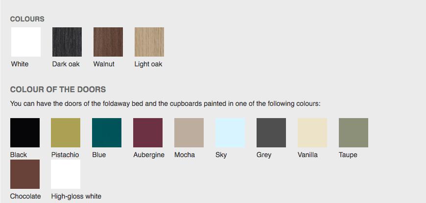 colour palette doors