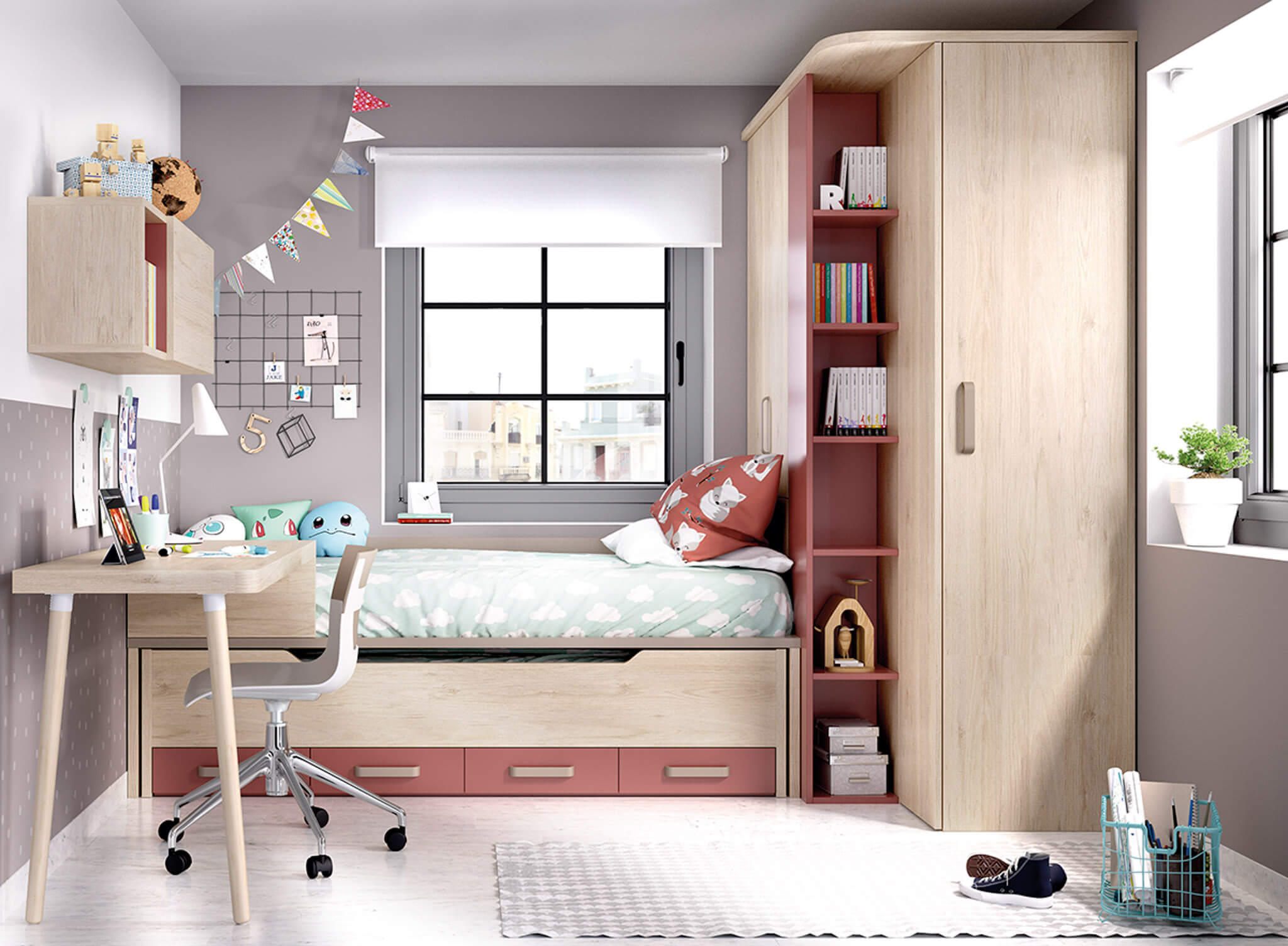 How to furnish a small bedroom
